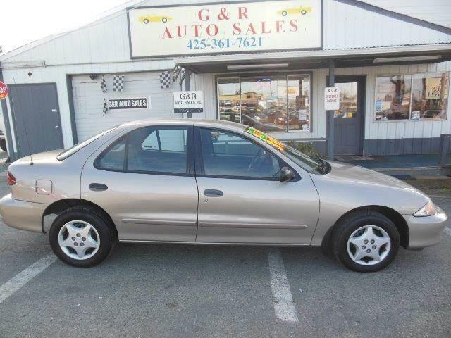 2001 Chevrolet Cavalier for sale at G&R Auto Sales in Lynnwood WA