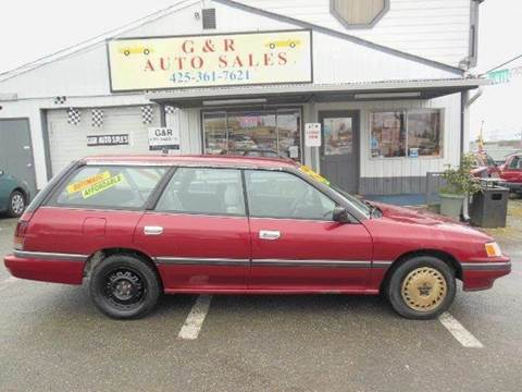 1991 Subaru Legacy for sale at G&R Auto Sales in Lynnwood WA