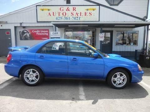 2004 Subaru Impreza for sale at G&R Auto Sales in Lynnwood WA