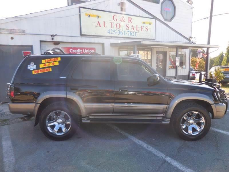 2000 Toyota 4Runner for sale at G&R Auto Sales in Lynnwood WA