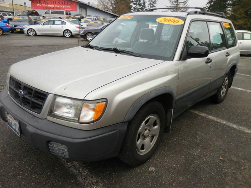 2000 Subaru Forester for sale at G&R Auto Sales in Lynnwood WA