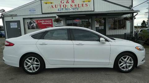 2014 Ford Fusion for sale at G&R Auto Sales in Lynnwood WA