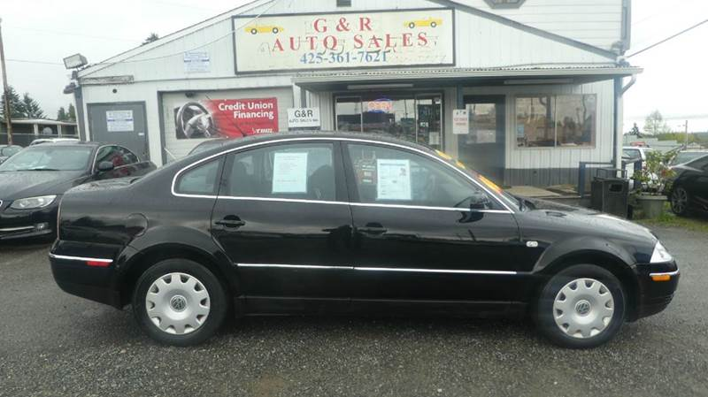 2001 Volkswagen Passat for sale at G&R Auto Sales in Lynnwood WA