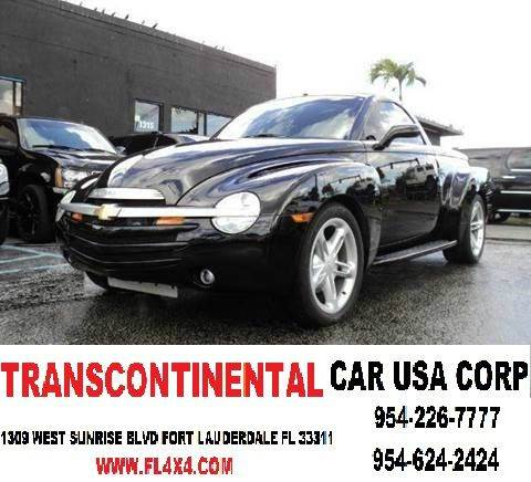 2004 Chevrolet SSR for sale at TRANSCONTINENTAL CAR USA CORP in Ft Lauderdale FL