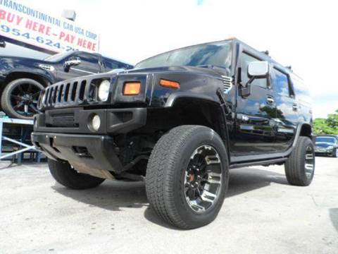 2003 HUMMER H2 for sale at TRANSCONTINENTAL CAR USA CORP in Ft Lauderdale FL