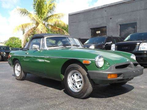 1979 MG MGB for sale at TRANSCONTINENTAL CAR USA CORP in Ft Lauderdale FL