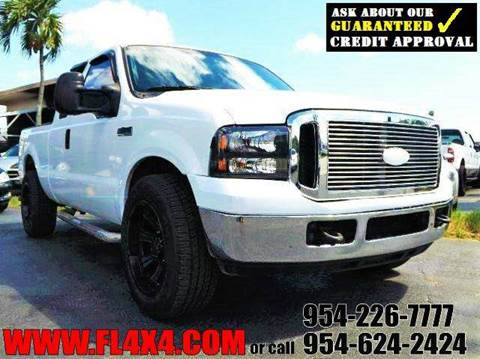 2005 Ford F-250 Super Duty for sale at TRANSCONTINENTAL CAR USA CORP in Ft Lauderdale FL
