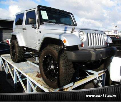 2009 Jeep Wrangler for sale at TRANSCONTINENTAL CAR USA CORP in Fort Lauderdale FL