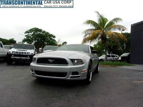 2013 Ford Mustang for sale at TRANSCONTINENTAL CAR USA CORP in Ft Lauderdale FL