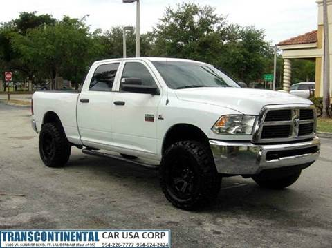 2012 RAM Ram Pickup 2500 for sale at TRANSCONTINENTAL CAR USA CORP in Ft Lauderdale FL