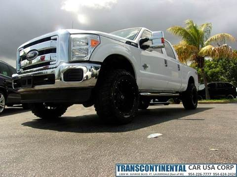 2012 Ford F-350 Super Duty for sale at TRANSCONTINENTAL CAR USA CORP in Ft Lauderdale FL