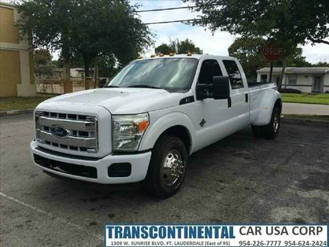 2011 Ford F-350 Super Duty for sale at TRANSCONTINENTAL CAR USA CORP in Ft Lauderdale FL