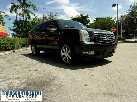 2011 Cadillac Escalade ESV for sale at TRANSCONTINENTAL CAR USA CORP in Ft Lauderdale FL