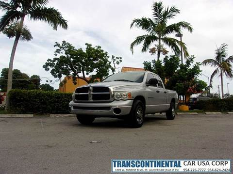 2004 Dodge Ram Pickup 2500 for sale at TRANSCONTINENTAL CAR USA CORP in Ft Lauderdale FL