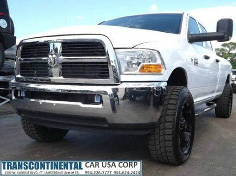 2011 RAM Ram Pickup 2500 for sale at TRANSCONTINENTAL CAR USA CORP in Ft Lauderdale FL