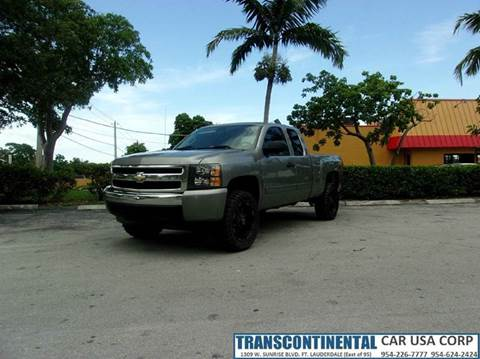 2007 Chevrolet Silverado 1500 for sale at TRANSCONTINENTAL CAR USA CORP in Ft Lauderdale FL