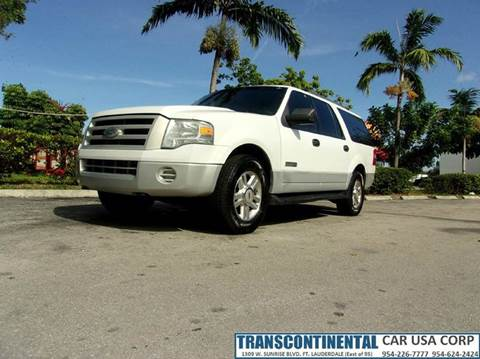 2007 Ford Expedition EL for sale at TRANSCONTINENTAL CAR USA CORP in Ft Lauderdale FL