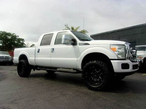 2011 Ford F-250 Super Duty for sale at TRANSCONTINENTAL CAR USA CORP in Ft Lauderdale FL