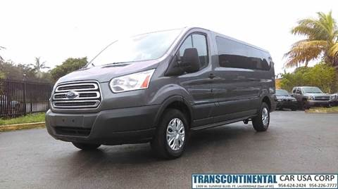 2015 Ford Transit Wagon for sale at TRANSCONTINENTAL CAR USA CORP in Ft Lauderdale FL