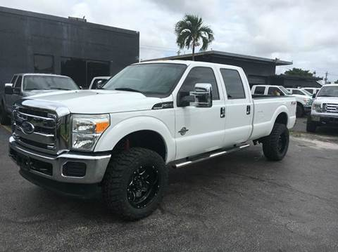 2012 Ford F-250 Super Duty for sale at TRANSCONTINENTAL CAR USA CORP in Ft Lauderdale FL