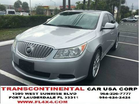 2010 Buick LaCrosse for sale at TRANSCONTINENTAL CAR USA CORP in Fort Lauderdale FL