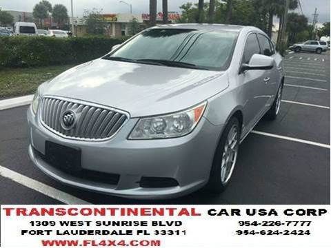2010 Buick LaCrosse for sale at TRANSCONTINENTAL CAR USA CORP in Ft Lauderdale FL