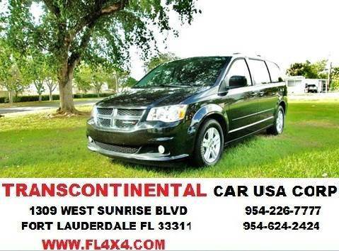 2012 Dodge Grand Caravan for sale at TRANSCONTINENTAL CAR USA CORP in Ft Lauderdale FL