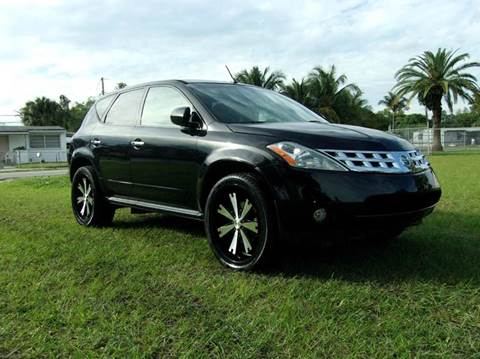 2005 Nissan Murano for sale at TRANSCONTINENTAL CAR USA CORP in Ft Lauderdale FL