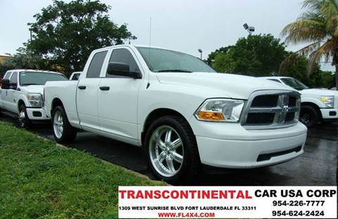 2011 RAM Ram Pickup 1500 for sale at TRANSCONTINENTAL CAR USA CORP in Ft Lauderdale FL