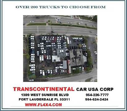 2004 Ford E-Series Cargo for sale at TRANSCONTINENTAL CAR USA CORP in Ft Lauderdale FL