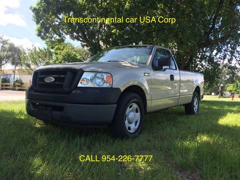 2008 Ford F-150 for sale at TRANSCONTINENTAL CAR USA CORP in Ft Lauderdale FL