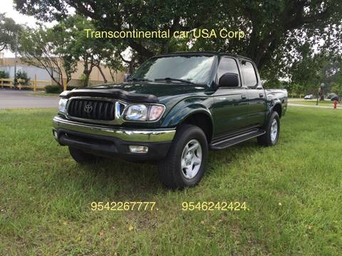 2002 Toyota Tacoma for sale at TRANSCONTINENTAL CAR USA CORP in Ft Lauderdale FL