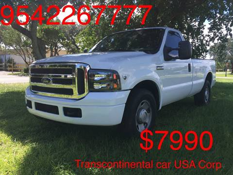 2006 Ford F-350 Super Duty for sale at TRANSCONTINENTAL CAR USA CORP in Ft Lauderdale FL