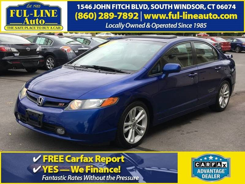 2007 Honda Civic Si 4dr Sedan In South Windsor Ct Ful Line Auto