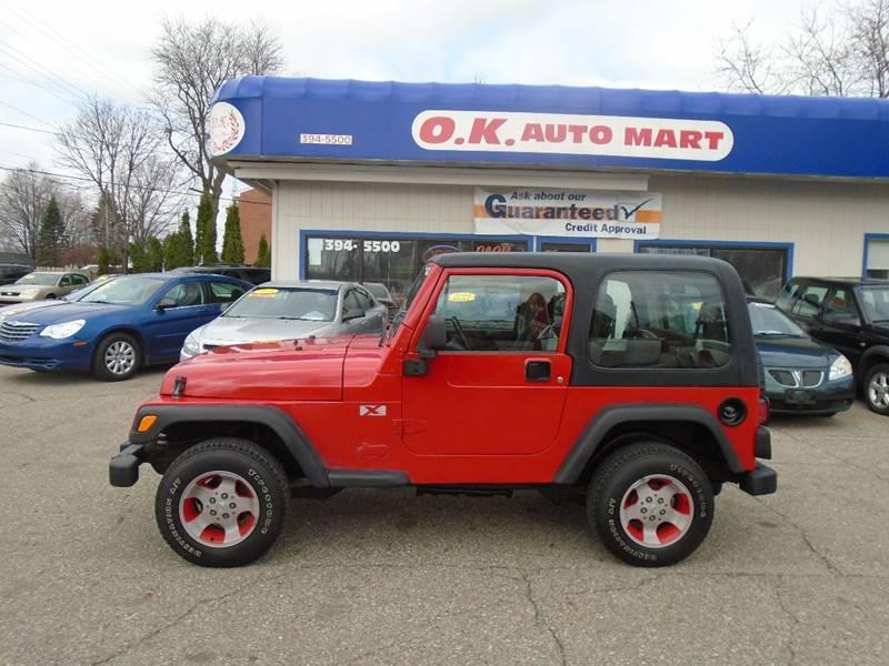 2003 jeep wrangler x 4wd 2dr suv in lansing mi o k auto mart. Black Bedroom Furniture Sets. Home Design Ideas