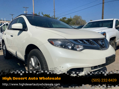 2013 Nissan Murano for sale at High Desert Auto Wholesale in Albuquerque NM