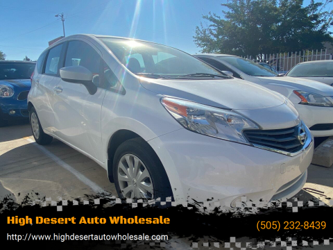 2016 Nissan Versa Note for sale at High Desert Auto Wholesale in Albuquerque NM