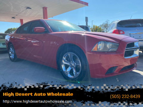 2012 Dodge Charger for sale at High Desert Auto Wholesale in Albuquerque NM