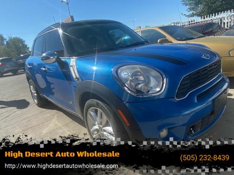 2012 MINI Cooper Countryman for sale at High Desert Auto Wholesale in Albuquerque NM