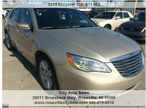 2013 Chrysler 200 for sale at City Auto Sales in Roseville MI