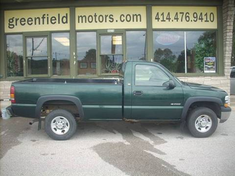 2002 Chevrolet Silverado 2500 for sale at GREENFIELD MOTORS in Milwaukee WI
