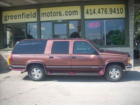 1995 Chevrolet Suburban for sale at GREENFIELD MOTORS in Milwaukee WI