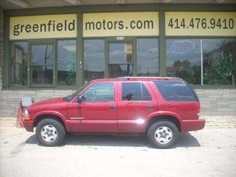 2004 Chevrolet Blazer for sale at GREENFIELD MOTORS in Milwaukee WI