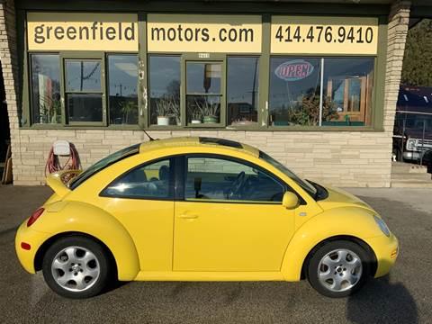 2002 Volkswagen New Beetle GLS for sale at GREENFIELD MOTORS in Milwaukee WI