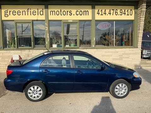 2004 Toyota Corolla LE for sale at GREENFIELD MOTORS in Milwaukee WI