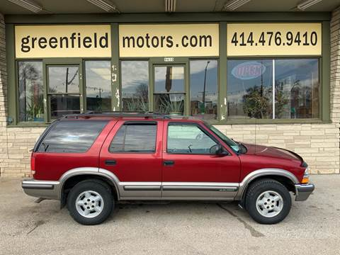 1998 Chevrolet Blazer LS for sale at GREENFIELD MOTORS in Milwaukee WI
