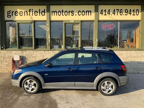 2005 Pontiac Vibe for sale at GREENFIELD MOTORS in Milwaukee WI