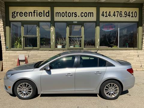 2012 Chevrolet Cruze ECO for sale at GREENFIELD MOTORS in Milwaukee WI