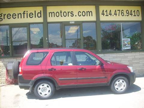 2006 Honda CR-V for sale at GREENFIELD MOTORS in Milwaukee WI