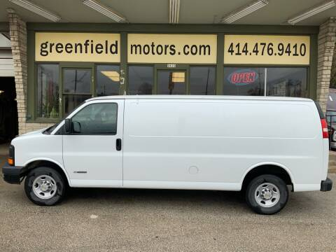 2003 Chevrolet Express Cargo 3500 for sale at GREENFIELD MOTORS in Milwaukee WI